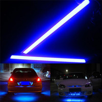Wholesale COB Car Light LED Daytime Running CM CM X COB LED Universal Ultra thin LED Strip Car Daytime Running Light DRL Lamp