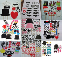 Wholesale 1 set Photo Booth Props Glasses Mustache Lip On A Stick Wedding Birthday Party Fun Favor