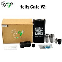 Cheap Authentic Yep Hell's Gate Kit with Hells Gate V2 Box Mod Yep V2 Rda Atomizers Best Dual Thread Huge Vapor Electronic Cigarettes