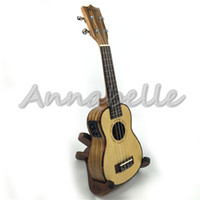 Wholesale Electric quot quot Concert Ukulele Hawaii Small Travel Guitar Uke four Strings Solid Top Spruce Zebra Wood