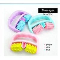 Wholesale Factory Price Full Body Massage Cell Roller New Relax Cellulite Control Roller Massager Thigh Body Massager Hand held Wheel Random color