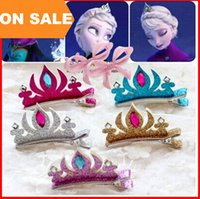 Wholesale Frozen Hairpins Tiara Crown Hair Sticks Clips Barrettes for children Christmas gift Hair pin bobby pin Barrettes head Hair jewelry