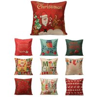 ambience lights - Christmas Series Santa Elk Alphabet Owl Pillow Case Cover Decorative Soft Pillowcase Home Bed Supplies Xmas Ambience
