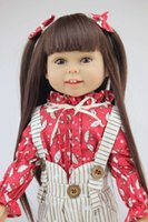Wholesale 18 CM AMERICAN GIRL Brown Long hair Beauty Girl Reborn handmadere Imported Vinyl newborn baby doll girls gift
