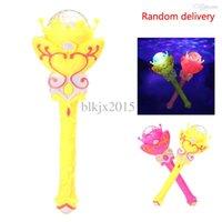 Wholesale Rotating flash windmill projection magic wand music windmill dancing lights flash stick Flashlight Lamp Toys for kids