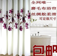 Wholesale Orchid Ink Painting Waterproof Mouldproof Pastoral Polyester Bathroom Opaque Shower Curtains Partition Multi size Curtains