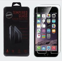 Wholesale For iphone Tempered Glass Screen Protector film MM H D Explosion Proof For iPhone Plus iphone S Galaxy S6 S5