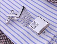 french cuff shirt - Fashion cufflinks crystal Men s shirt cuffs French shirts cufflinks cuff nails