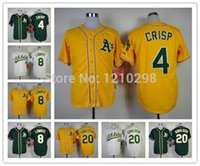best coco - 30 Teams New Oakland Athletics Jersey Coco Crisp Green Jed Lowrie White Josh Donaldson Yellow Jersey Best Quality