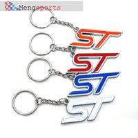 Wholesale 100pcs Metal Chrome ST D Key Chain Car Keyring Blue Red Orange White DHL free