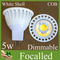 Wholesale Cree Chip W GU10 Led Bulbs Cob Led light Spotlights Lamp lm High Power Dimmable GU10 MR16 Warm Cool White Led Bulb Lights Free DHL