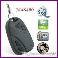 Wholesale 100pcs high definition video recorder mini dv car keys micro camera Support TF Card hidden Camera spy JBD B7