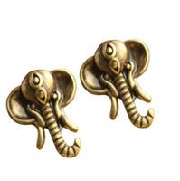 Cute Elephant Stud Earrings fashion earring jewelry charm stud earring cheap earring Livraison gratuite