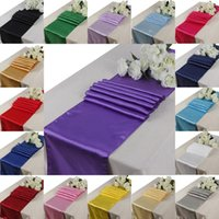 Wholesale 10 pieces Satin Table Runner inch x inch cm x cm Colors Wedding Party Hotel Home Decoration