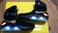 Fashion Boots best free loops - Free EMS shipping Air Mag LED Light Charging Shoes Hot selling Mens Marty McFly Best Basketball Shoes Mens Luxury Elite Limited Grey Balck