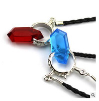 Pendant Necklaces Usa Unisex New Necklace Cosplay DMC Devil May Cry 5 Dante Vergil Red Acrylic Resin Crystal Pendant Necklace PU Leather Chain For Men necklaces Dhgate