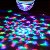 Wholesale New year Festival led stage light disco ball E27 Full Color W RGB projector Crystal Magic Ball DJ dace party effect Bulb Lamp