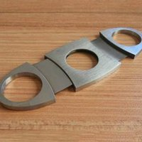 Wholesale 2015 Hot Metal cigar cutter round stainless steel cigar cutter cigar scissors Cigar Size cm x cm x cm