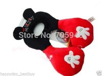 baby support seat - mickey mouse panda lion frog Baby Child infant Head Neck Support Headrest Travel Car Seat Pillow Cushion benbat years