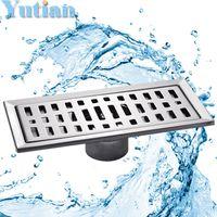 Wholesale large traffic stainless steel bathroom shower square floor waste grate sanitary cm x10cm floor drain YT