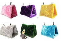 bunk bed - 2015 New Arrival Fashion Bird Hammock Hanging Cave Cage Plush Snuggle Happy Hut Tent Bed Bunk Parrot Toy