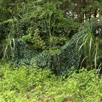 Wholesale Durable Military Camouflage Camo Net for Hunting Covering CS Bird Watching m Oxford Cloth Woodland Leaves Camo Cover