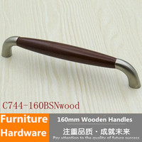 american wooden furniture - 160mm modern fashion American style furniture handle wooden kitchen cabinet pull stain silver brushed nickel dresser door handle