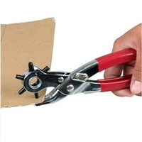 Wholesale New inch New Sized Heavy Duty Leather Hole Punch Hand Pliers Belt Holes Punches