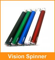 650mAh   Vision Spinner Ego c twist Electronic cigarette ego-c twist battery 650 900 1100 1300mah Variable Voltage 3.3-4.8V in a black pacjage box