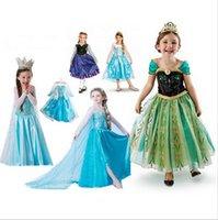 Wholesale 2015 new arrival blue princess skirt skirt and white lace Wape girl new fashion dress ready stock