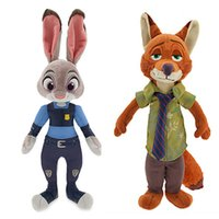 best office toys - 2016 CM The Latest Movie Zootopia Toys Large Plush Office Judy Hopps Nick Wilde CM Rabbit Fox Dolls Best Gifts For Kids