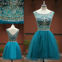 Cheap QD128 2015 Custom Real Image Actual Photo Short Prom Cocktail Dresses Luxury Beads Crystal A Line Party Dresses Teen Pageant Dresses Cheap