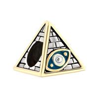 antique masonic - Personalized jewelry European style Antique Masonic Evil Eye On Egyptian Pyramids metal spacer bead loose charms Fits Pandora charm bracelet