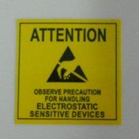 Etiquette électronique Avis-DHL 3000pcs / Lot Attention Sticker Adhésif Avertissement Étiquette Rappel Pour ESD statique Electrostatic Sensitive Device Electronics PCB
