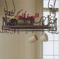 Beverage Ceramic Eco Friendly Ou, wrought iron frame spice rack in the kitchen. Hanger. Storage bottles and cans. The kitchen shelf. Wrought iron frame