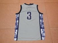 allen college - free fast shipping Allen Ezail Iverson Jerseys Stitched Wake Forest Allen Iverson College grey Basketball Jerseys Size S XXL