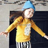 long sleeve yellow t-shirts - Children T Shirts Korean Girl Dress Cat Long Sleeve T Shirt Children Clothes Kids Clothing Girls Shirt Fashion Autumn Winter Cotton Shirts