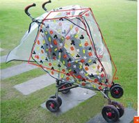 Wholesale free size pvc universal Baby trolley biest windproof stroller cartoon ultraviolet proof rain cover