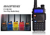 Wholesale BaoFeng Interphone UV R Dual Band Dual Display Dual Standby Handheld Portable Walkie Talkie UHF VHF DTMF Two Way Radio Transceiver