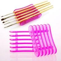 Cheap Acrylic UV Gel Brush Pen Makeup Nail Art Craft Design Rest Plastic Holder Stand