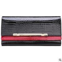 alligator cover - cowhide wallets New crocodile women wallet Genuine Leather designers brand women wallets lady Fashion clutch womens purses