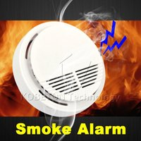 home security equipment - High Sensitive Photoelectric Home House Building Security System Cordless Wireless Smoke Detector Fire Alarm Equipment Device A5