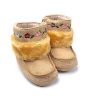 ankle walker - Super Warm Winter Baby Ankle Snow Boots First Walker Shoes fashion Shoes Infant Shoes Baby Footwear nonslip fur shoes pairs