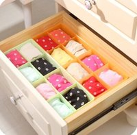 Wholesale Creative tuba grid storage box underwear socks and underwear bra plastic drawer finishing box