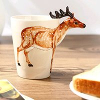 african coffee - African Prairie Animals Coffee Cup Eco Friendly Ceramic ml D Hand Paint Cup Mug Birthday Gift Festival Favors SK599