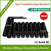 Wholesale DHL Wireless DMX controller transmitter and receiver LED Lighting DMX controller