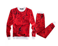 Wholesale Mens d rose print sport suit Tracksuits men women jogger set emoji Jogging suit sudaderas hombre chandal hombre homme