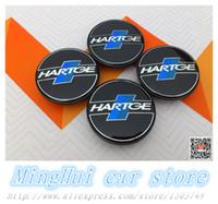 auto badge clips - 20PCS mm Hartge car emblem Wheel Center Hub Caps wheel Badge covers with VW B7601171 clips Auto accessories