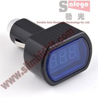 car tester - 1pcs DC V V LED Display Cigarette Lighter Electric Voltage Meter tester Auto Car Battery voltage digital tester