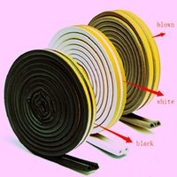 Wholesale 4PCS M Self Adhesive D Type Doors and Windows Foam Seal Strip Soundproofing Collision Avoidance Rubber Seal